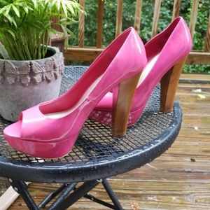 Barbie pink heel platforms